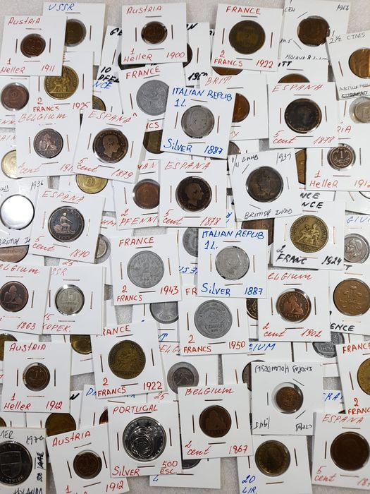 World. Lot various coins 1863/1970s (75 pieces) incl. silver