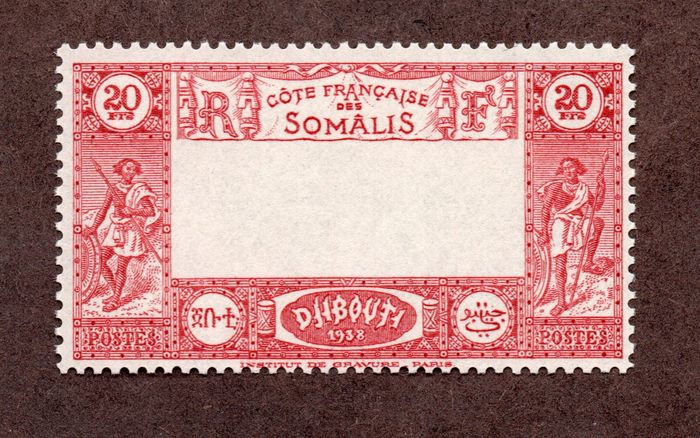 Kust van Somalië - Frans protectoraat - No. 169a, mint**, deluxe and signed. Value: €825! Rare.