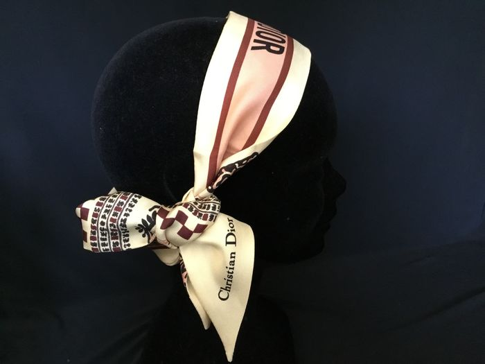 Christian Dior - Twilly réversible monogramme - Sciarpa