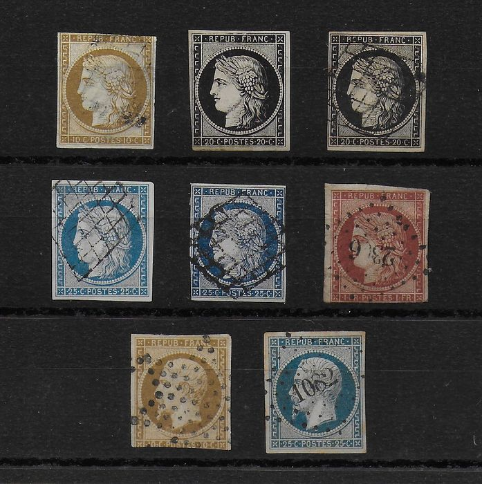 Frankreich 1849/1852 - First stamps of France - Yvert N° 3 / 10