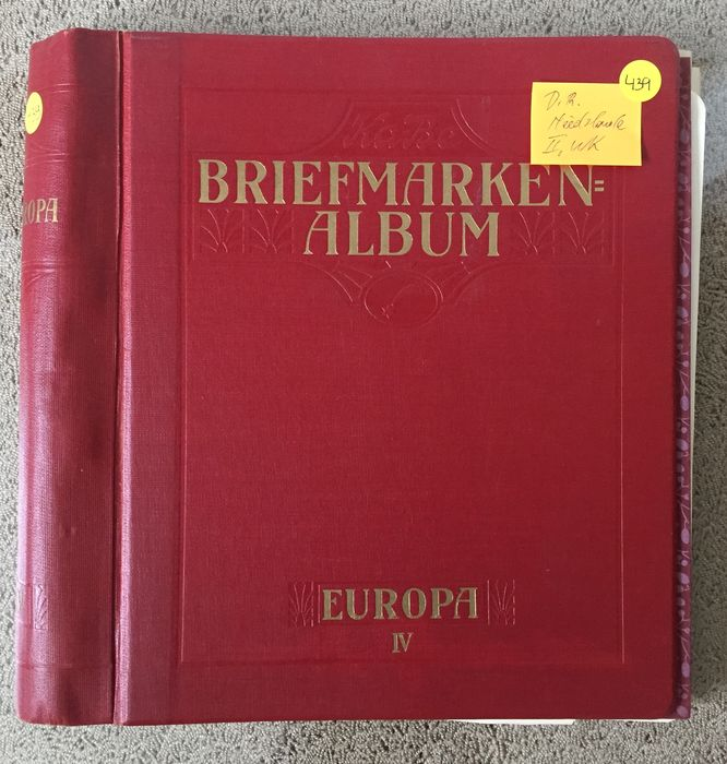Europa 1850/1960 - German Reich, France, Belgium, Luxembourg, Federal Republic of Germany – treasure trove from an mit interessanten Material
