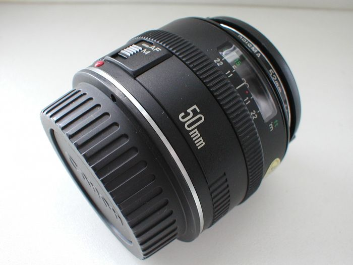 Canon EF 50mm F/1.8 lens voor EOS, metal and glass...
