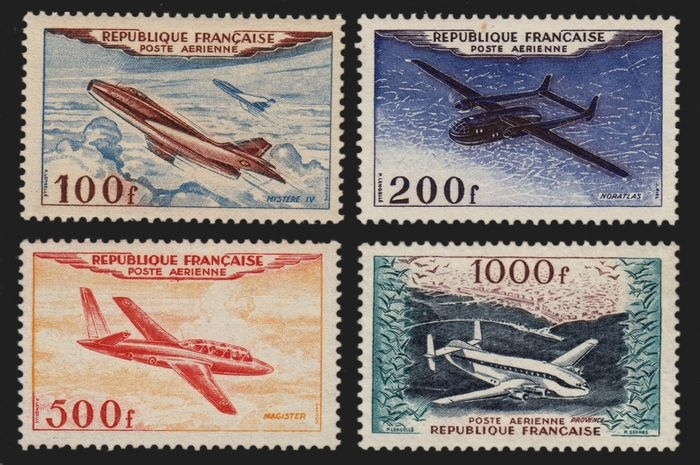 Frankrijk 1954 - Airmail, complete series, mint ** without hinge - Yvert n° 30/33