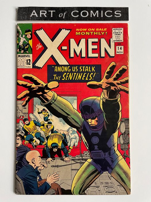 X-Men #14 - 1st Appearance Of The Sentinels - Higher Grade!!! - Very Hot Key Book!!! - Softcover - Eerste druk - (1965)