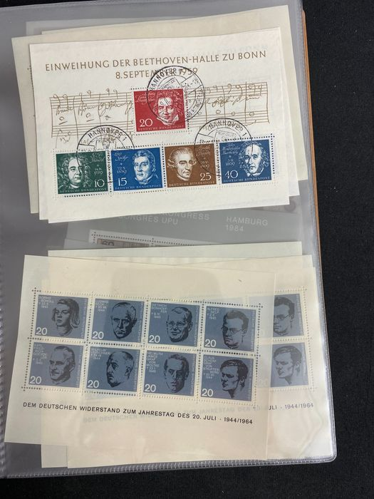 Europe - Many German/DDR blocks and kleinbogen + covers, special issues and kleinbogen + some worldwide