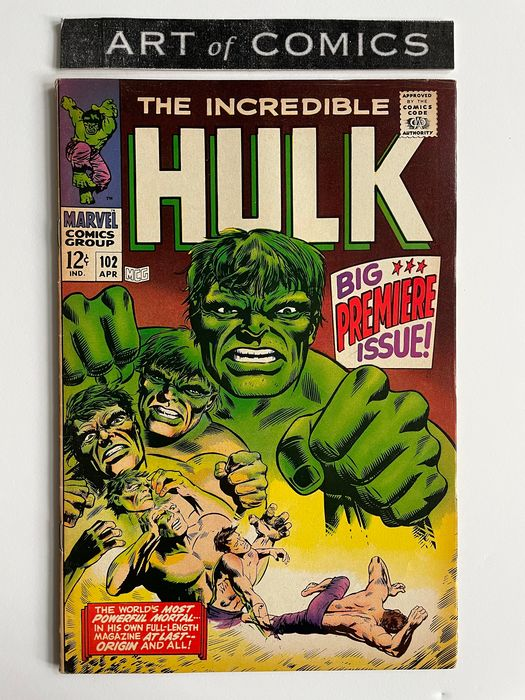 The Incredible Hulk #102 - Basically Hulk #1 Of The Ongoing Series - Key Book - Very High Grade - Softcover - First edition - (1968)