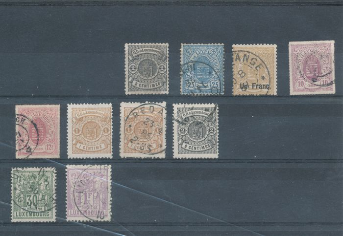 Luxembourg 1950 - Batch with better loose denominations and sets on 15 small stock cards - Michel