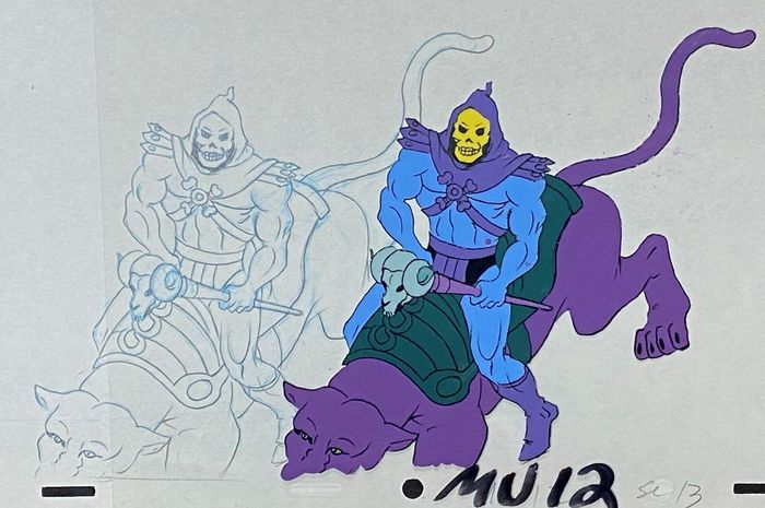 He-Man and the Masters of the Universe - Original animation drawing and cel of Skeletor (1983)