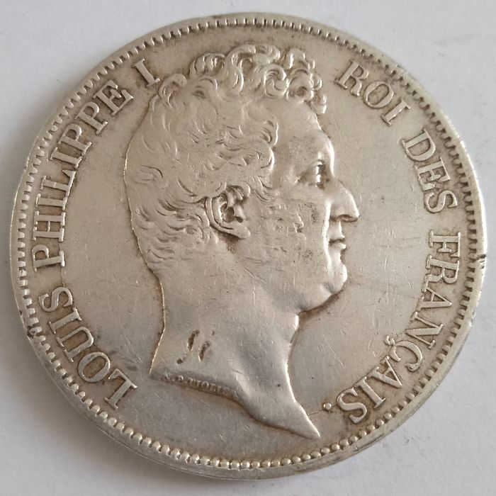 France. Louis Philippe I (1830-1848). 5 Francs 1831-W, Lille