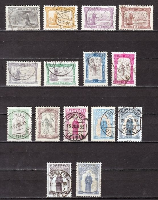 Portugal 1895 - 7th centennial of the birth of Saint Anthony - Mundifil 111/125