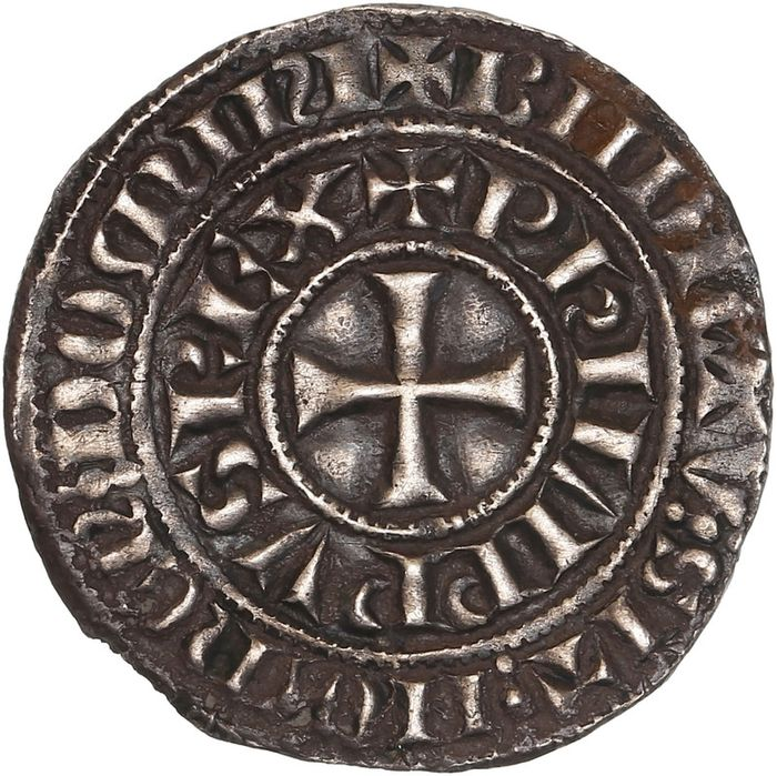 France. Philippe IV (1285-1314). Maille tierce à l'O rond
