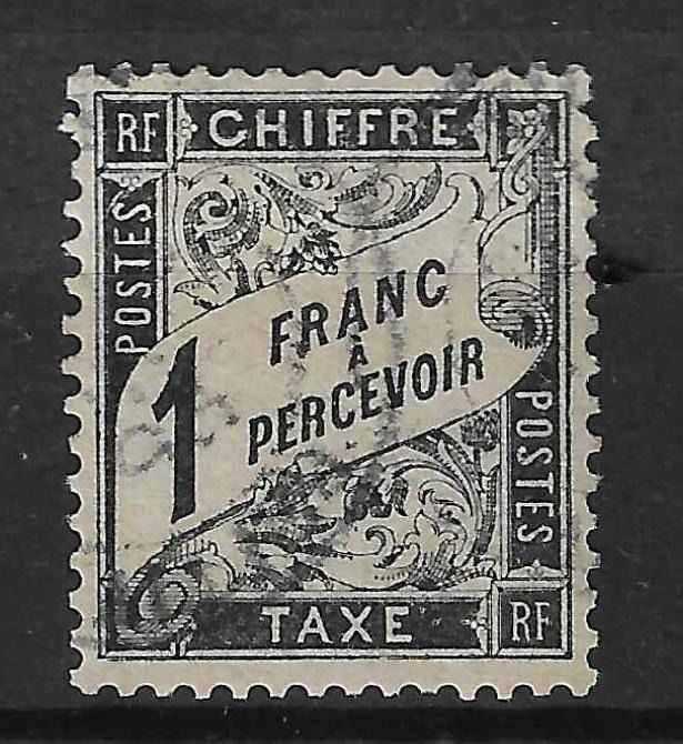 Frankrijk 1882 - 1 franc black - very nice centring - Signed Brun and with Calves certificate. - Yvert taxe n°22