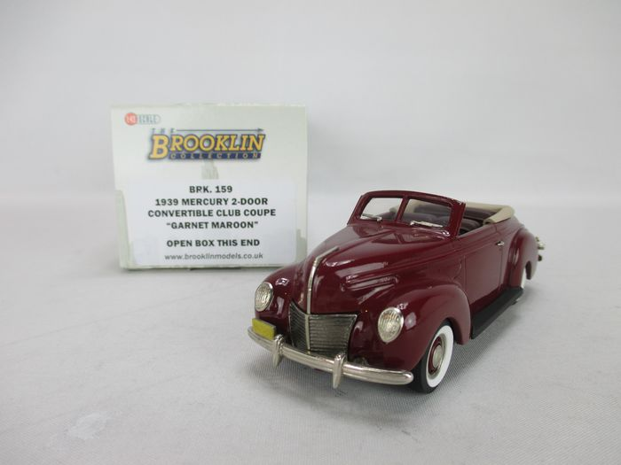 Brooklin - 1:43 - BRK 159 - Two-tone 1939 Mercury convertible Club Coupe in mint condition and original packaging