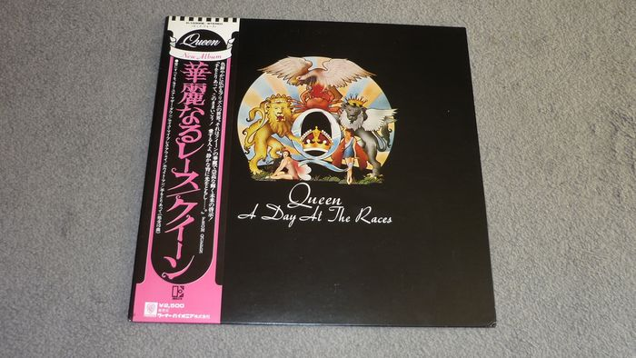 Queen - A Day at the Races (Japan Press) OBI, Japanese Insert - LP Album - 1976/1976