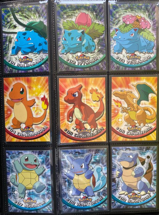 The Pokémon Company - TOPPS - Trading Cards series 1 - Ensemble complet - Excellent condition - English - almost all 1st edition (blue logo) - Including Charizard - 1999