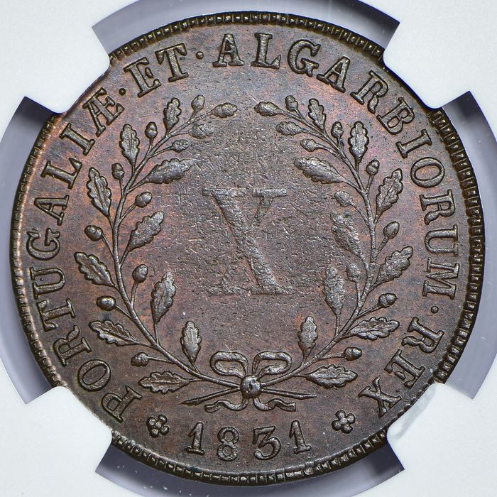 Portugal. D. Miguel I (1828-1834). X Reis 1831 - NGC - MS63 BN
