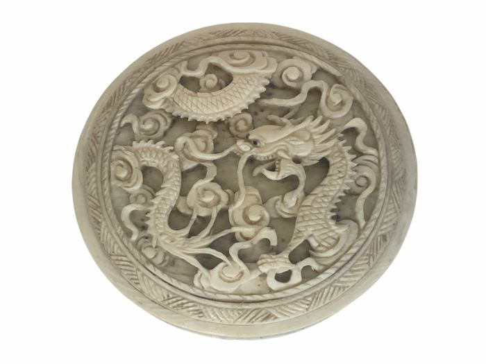 Paperweight - Certificate included - Elephant ivory - China - 19th century