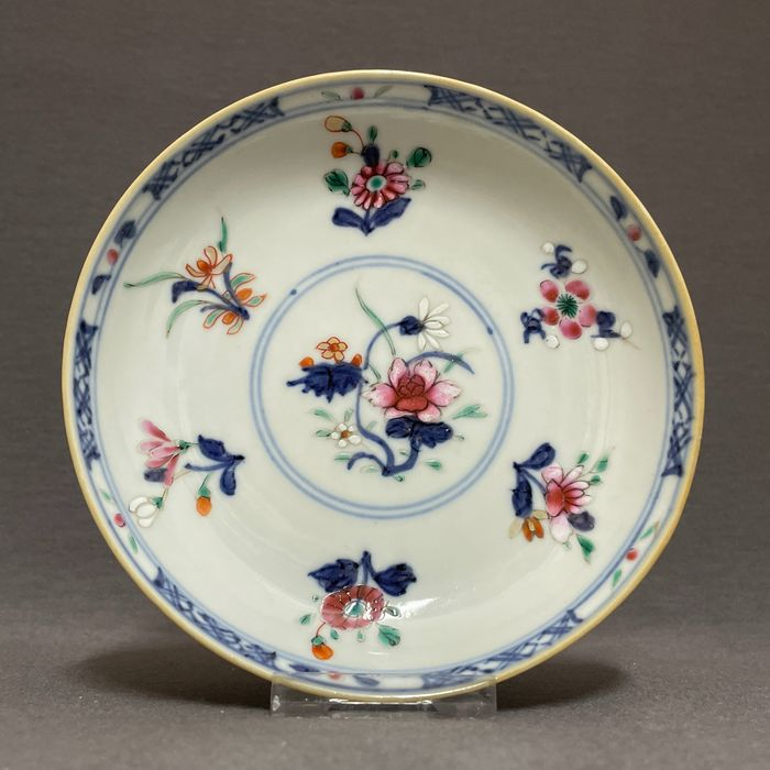 Saucer - Doucai - Porcelain - Chinese - Lotus, peonies and blossoms - China - Yongzheng (1723-1735)
