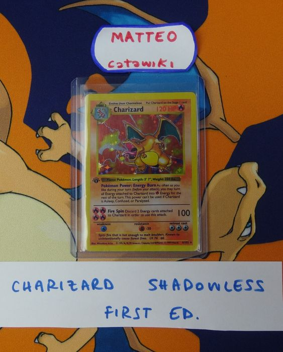 The Pokémon Company - Pokémon - Collection Giant Vintage collection with 1st ed. Shadowless Charizard and many more