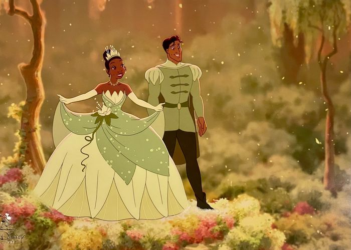 """The Princess and the Frog - """"Bayou Wedding"""" Limited Edition Cel 110/250 - (2009)"""