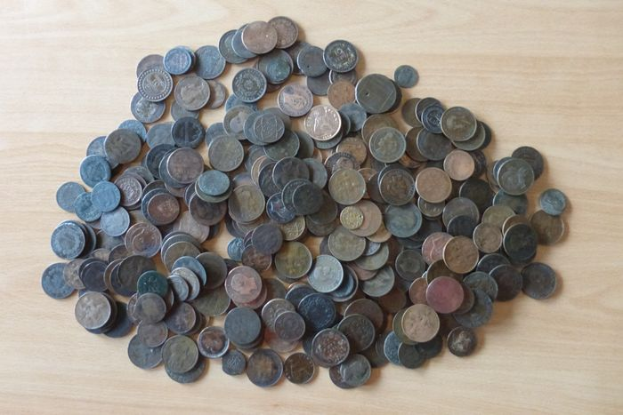 Europe. Lot various older coins 19th and 20th century (2,4 kilo)