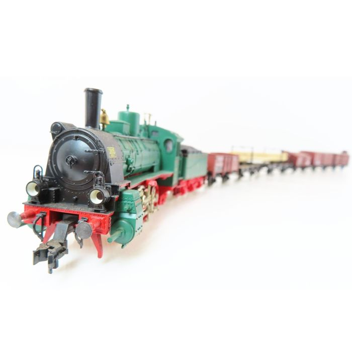 Fleischmann H0 - 4883 - Freight carriage - Freight train with steam locomotive G4 and 5 carriages - KPEV
