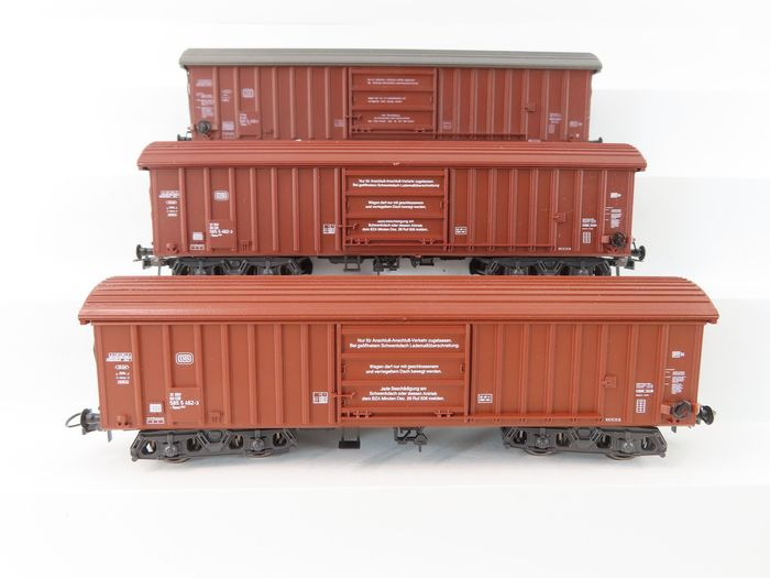 Roco H0 - 46210/4358 - Freight carriage - 3 Taes . type boxcars - DB
