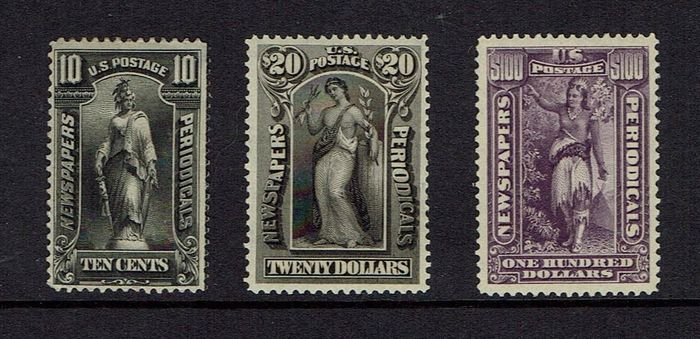 United States of America 1895 - Newspaper stamps with $100 purple - Scott 2021