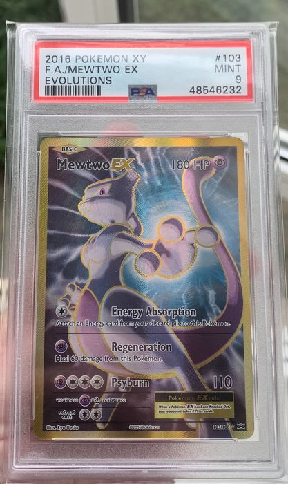The Pokémon Company - Graded Card - Hyper Rare! - Mewtwo EX - PSA9 - XY Evolutions - 103/108 - Rarely Offered - Mint - 2016