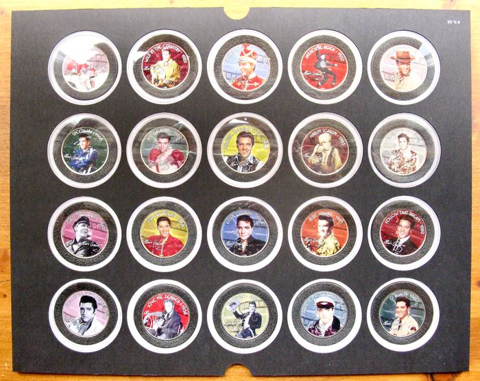 """USA. Half Dollar 2005/2006 """"Elvis Presley"""" (20 different coins) - colorized"""