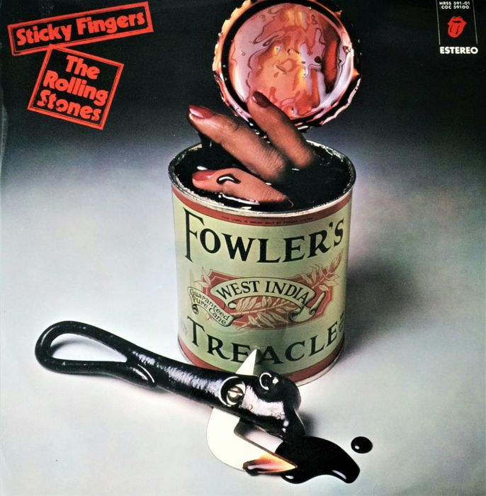 """Rolling Stones - Sticky Fingers [Spanish censorship Franco´s period: cover and song """"Sister Morphine"""". 1st edition] - LP Album - 1971"""