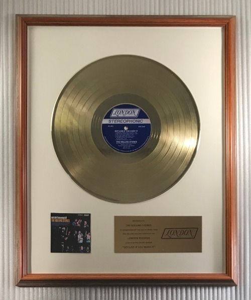 """Rolling Stones - """"Got Live If You Want It!"""" LP Gold Record Award Presented To The Rolling Stones - Official In-House award - 1974/1974"""