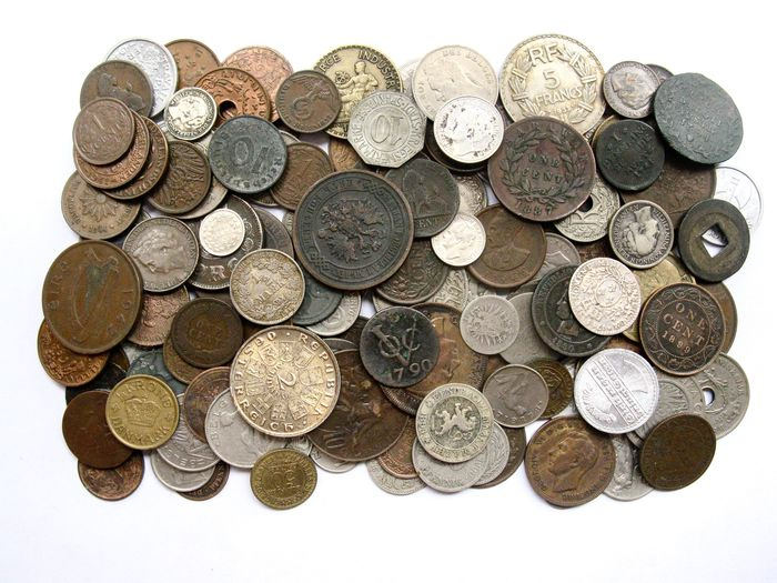 Wereld. Lot various old coins 1745/1949 (135 pieces) incl. silver