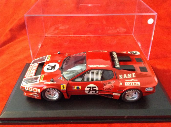 Tamiya - 1:24 - Ferrari 365GT/4 Berlinetta Boxer NART 16° Le Mans 1977 - racing number #75 of Migault/Guitteny/ - very high quality built-up modelcar