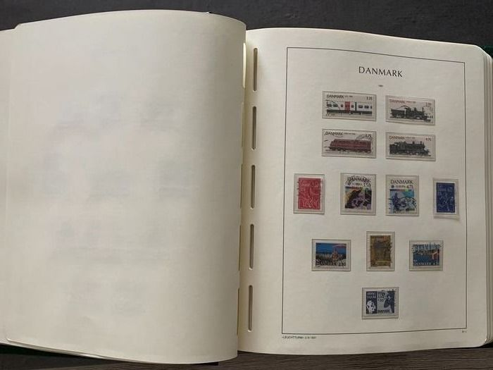 Denemarken 1990/2006 - 58 pages, 387 cancelled values. (Incomplete)