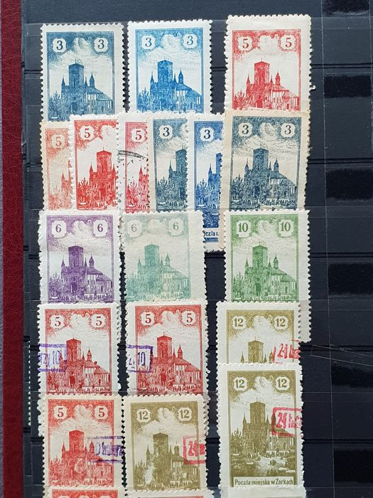 Pologne 1915/1944 - Elaborate collection of local issues, city mail (Warsaw, Zarki, Przedborz) - Michel