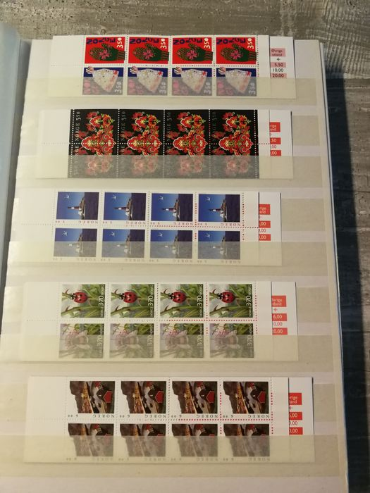 Norvège - Collection with stamp booklet Modern with postage value with blocks and letters