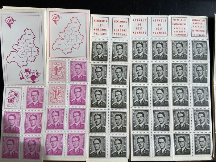Belgique 1969/1998 - Booklets and Red Cross Centenary - B1-B16 / B19/20/21/23/24/25/26/30/31/37