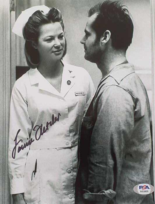 """One Flew Over the Cuckoo's Nest - Louise Fletcher (Oscar winner """"Best actress"""" for her role as Nurse Ratched) - Autografo, Foto With COA PSA"""