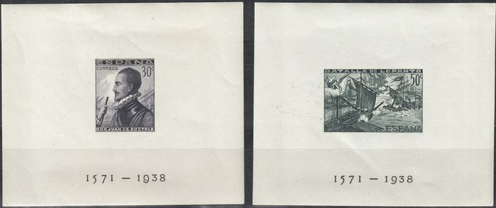 Spanien 1938 - Imperforated sheets, Battle of Lepanto - Edifil 864/865
