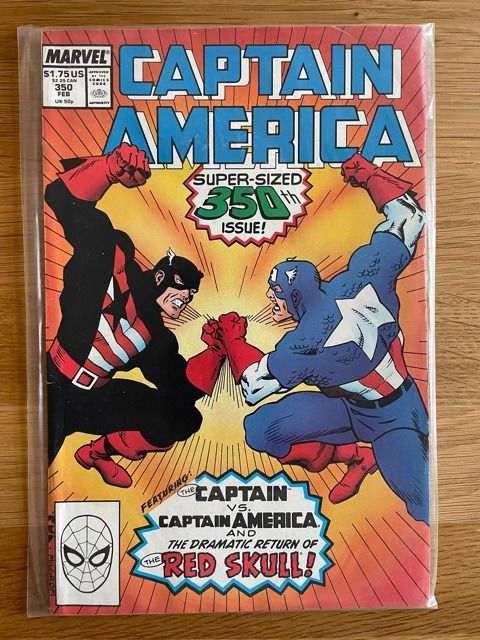 Captain America - Great lot in nice condition. With key-isssues. First appearance USAgent and D-Man - Softcover - Eerste druk - (1985/1989)