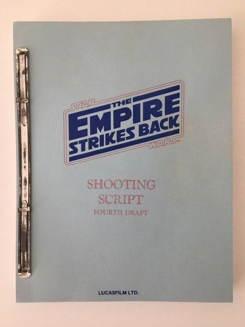 Star Wars Episode V: The Empire Strikes Back - Lucasfilm TLD. - Original Shooting Script (Fourth Draft) October 24, 1978 - Not a copy! With original red stamps - See images and description