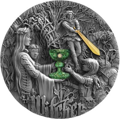 Niue. 5 Dollars 2020 - Witcher Sword of Destiny - High Relief Gilded Antique Finish - Coin No. 988 - 2 Oz