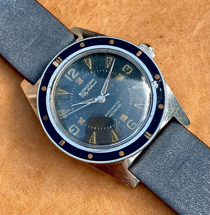 Blancpain - Fifty Fathoms Rotomatic Incabloc - Diver's watch - 13042 - Heren - 1950-1959
