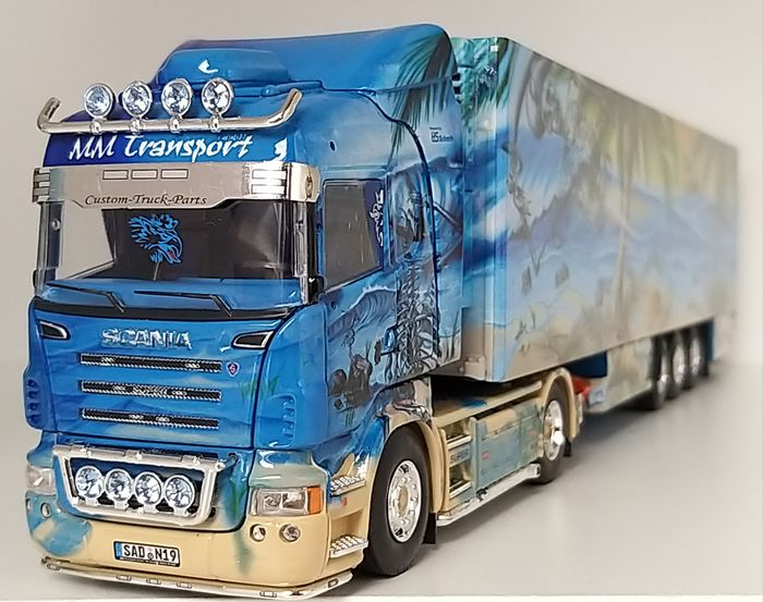 Tekno - 1:50 - SCANIA R500 - tractor with refrigerated trailer MM Transport