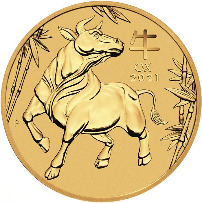 Australie. 100 Dollars 2021 Year of the Ox - 1 oz