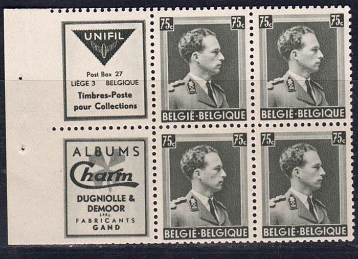 Belgique 1938 - Pair with the rare PU 99A and the PU 106 - OBP PU 99A 1 PU 106