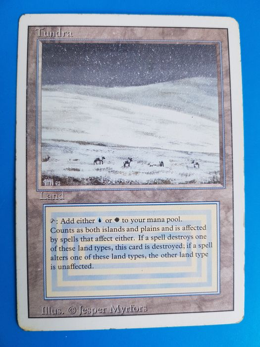 Wizards of The Coast - Magic: The Gathering - Trading card Tundra / Revised