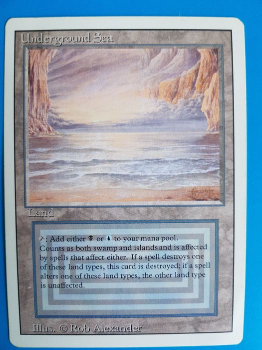 Wizards of The Coast - Magic: The Gathering - Trading card Underground sea / Revised