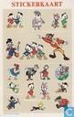 Diverse Disney ansichtkaart met stickers